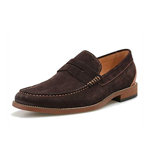 Scarpe Pelle Stile Autunnali Trend College Mocassini da Scarpe Scarpe Pigro Darkcoffee Stile Uomo in Britannico qHxt7a