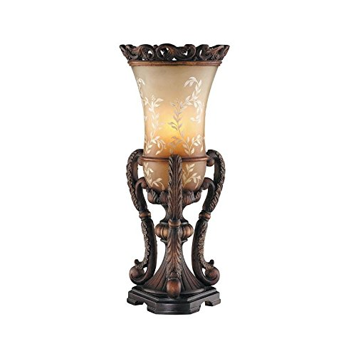Uplight Table (Stein World Furniture Chantilly Ornate Hand Painted Uplight, Antique Brown)