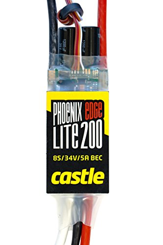 Castle Creations PHX Edge Lite 200 Amp Electronic Speed Controller with 5 Amp BEC