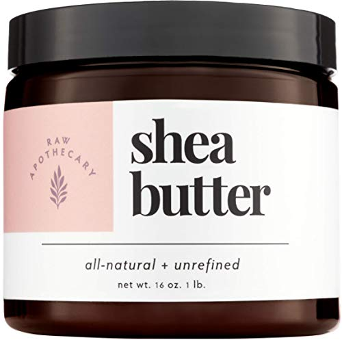 Ivory Shea Butter, 100% All Natural by Raw Apothecary- Top-Grade, Unrefined and Additive Free Ivory Butter (1 Pound) ()