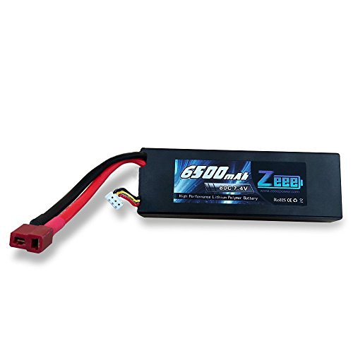 Zeee 6500mAh 80C 2S 7.4V Hard Case LiPo Battery for for RC Boat Heli Airplane UAV Drone FPV- Deans Connector