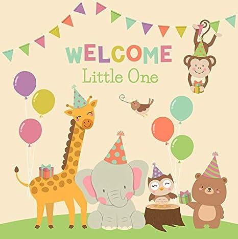 10x8ft Kids Birthday Theme Happy Cartoon Bear Photography Backdrop Photo Background Props LYFU174