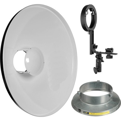 Impact 20'' Beauty Dish Kit for Speedlights and VC/VS-VSD Monolights by Impact