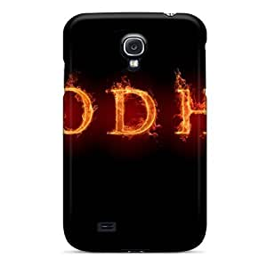 DaMMeke Scratch-free Phone Case For Galaxy S4- Retail Packaging - Flames Linux Bodhi Linux