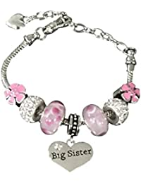 21bfdf81d Sister Bracelet -Sister Jewelry- Big Sister Charm Bracelet, Pink Big Sister  Bracelet-