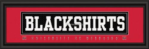 Nebraska Cornhuskers Framed (Decade Awards University of Nebraska BLACKSHIRTS Stitched Uniform Framed Print)