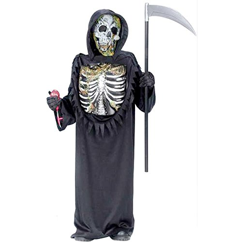 Child's Bleeding Skeleton Zombie Costume, Size Youth Large (Bleeding Skeleton Costume)