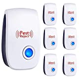 Bocianelli Ultrasonic Pest Repeller, 6 Packs, Electronic Indoor Plug in for Insects, Mice,Ant, Mosquito, Spider, Rodent, Roach, Mosquito Repellent for Children and Pets' Safe