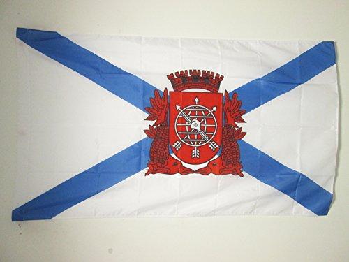 AZ FLAG Rio de Janeiro Flag 3' x 5' for a Pole - Rio in Brazil Flags 90 x 150 cm - Banner 3x5 ft with Hole