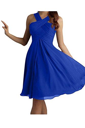 Olive Damen Gruen Blau Braut Brautjungfernkleider Kleider Partykleider La Chiffon Royal Kurz Mini Abendkleider Jugendweihe mia HAqFnxwEf