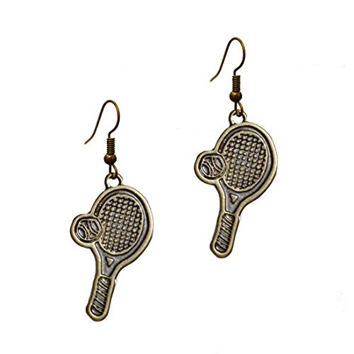 (Stay Calm The Perfect Bronze Racquet - Simple Charms Pave