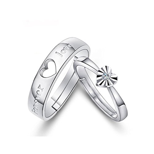 Suyi Adjustable 925Silver Couples Engagement