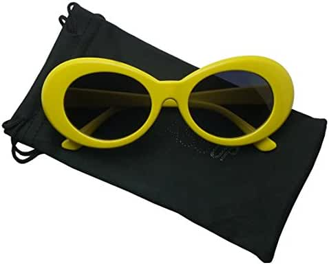 Colorful Oval Kurt Cobain Inspired Mod Round Pop Fashion Sunglasses