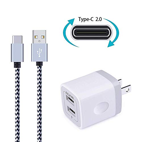 Wall Charger, Ailkin Dual USB Port Travel Adapter with 6FT N