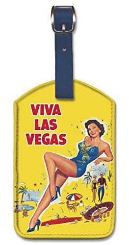 Pacifica Island Art Leatherette Luggage Baggage Tag - Viva Las Vegas