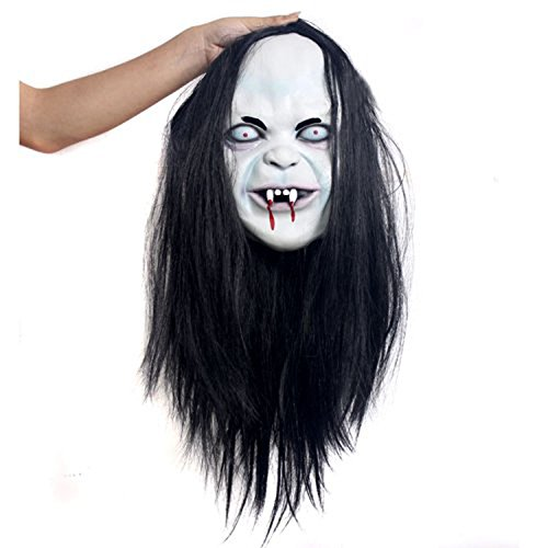 Moxeay Hot Halloween Toothy Zombie Ghost Mask Scary Emulsion Skin with (Call Of Duty Ghosts Halloween Costumes)