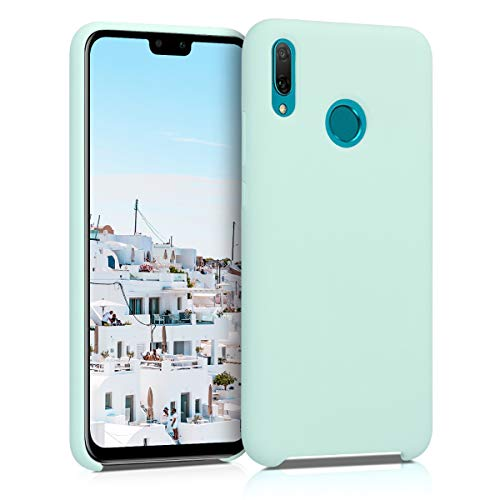kwmobile TPU Silicone Case Compatible with Huawei Y9 (2019) - Soft Flexible Rubber Protective Cover - Mint Matte