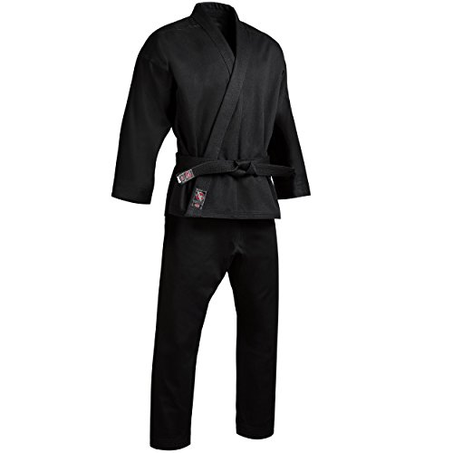 Hayabusa Cotton Champion Karate Gi Uniform (Black, 7)