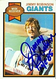 Autograph Warehouse 69473 Jimmy Robinson Autographed Football Card New York Giants 1979 Topps No. 431