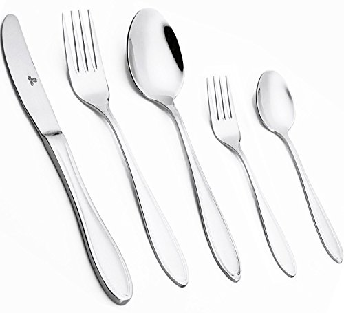 [40-Piece] Royal Flatware Set, 18/10 Stainless Steel, Mirror Polished Luxury Design, Restaurant & Hotel Quality, Cutlery Service for 4 (40-Piece) by Royal