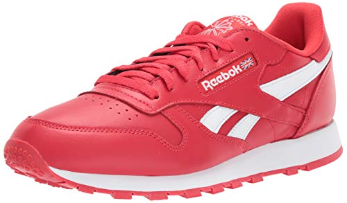 Reebok Men's Classic Leather Sneaker Primal red/White 5.5 M US