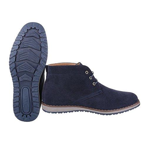 Ital-Design - Botas Desert Hombre Azul