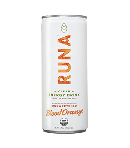 RUNA Clean Energy Drink, Blood Orange, 8.4 Ounce (Pack of 24)
