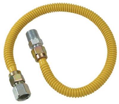 Brass Craft CSSD54-24P 24'' Stainless Steel Gas Heater Connector