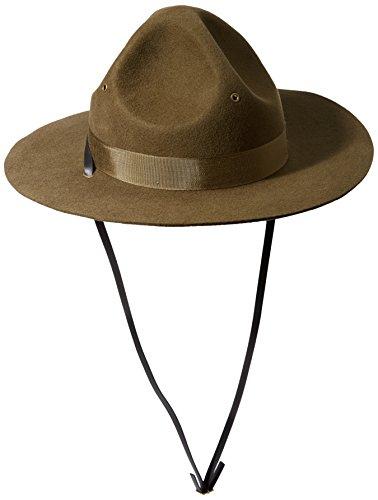 Drill Sergeant Hat (Scala Men's Wool Felt Campaign Hat, Olive, Medium)