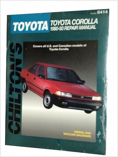 Chiltons toyota corolla 1990 93 repair manual chiltons total chiltons toyota corolla 1990 93 repair manual chiltons total car care repair manual fandeluxe Gallery