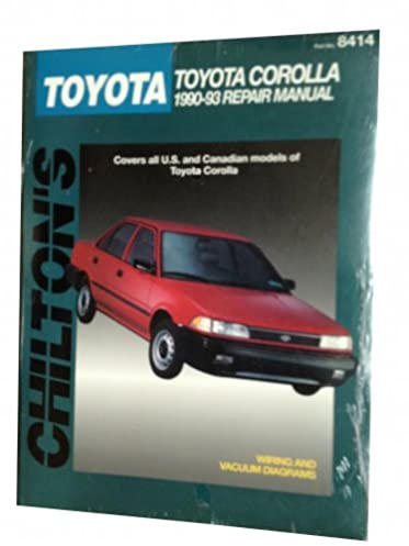 chilton s toyota corolla 1990 93 repair manual chilton s total car rh amazon com haynes repair manual toyota corolla 1993 thru 2002 pdf toyota corolla 1993 workshop manual