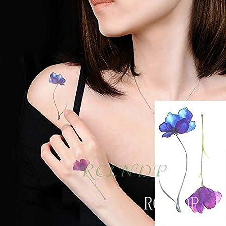 5pcs Tatuaje Impermeable engomada de la Flor del Tatuaje Tatto ...