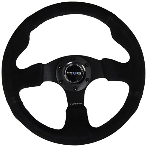 NRG Innovations RST-012S 320mm Race Style Suede  Steering Wheel with Black stitch