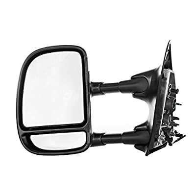 Dependable Direct Left Driver Side Textured Mirror for 99-02 Ford SD F-250, F-350 - Parts Link #: FO1320206: Automotive