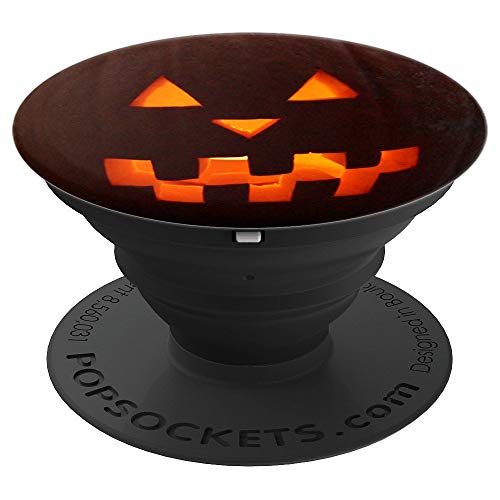 (Pumpkin Halloween Pop Socket cell phone Pop Socket black Pop - PopSockets Grip and Stand for Phones and Tablets)