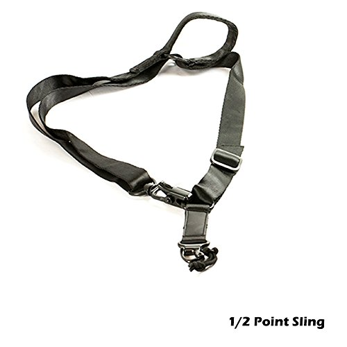Hunter Select US Tactical Safety Two Points Outdoor Belt Carbine Sling Adjustable Strap, Quick Action Adjustment Systems (Black)