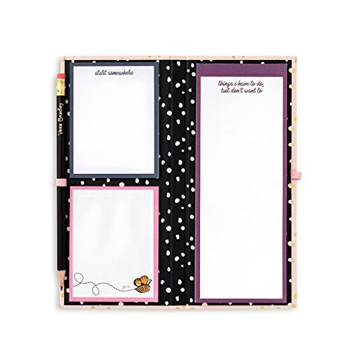 Vera Bradley Women's Sticky Note Pad Slim Book, Blush Gold - Vera Note Cube Bradley