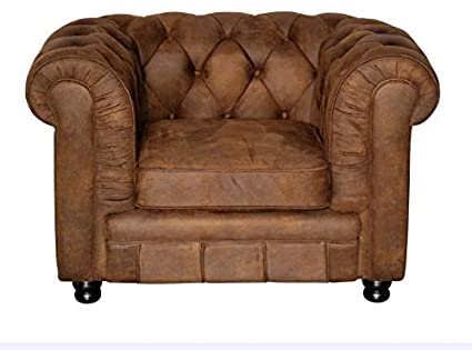 Amazonde Sessel Chesterfield Vintage Braun Oxford 1er