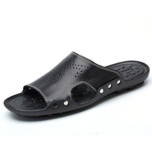 Xing Lin Sandalias De Hombre Zapatillas Blancas De Verano Los Hombres De Hombres Calzado De Playa Palabra Zapatillas Hombres Calzado Casual Cool Verano Zapatillas Hombres black