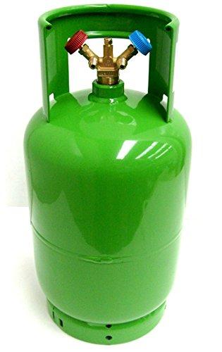 LEER KÄLTEMITTEL FLASCHE 2-V 12 L Eigentumsflasche Doppelventil R410A R134A