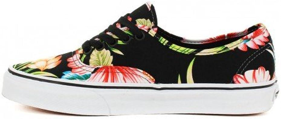 Basket Vans Authentic Noir à Motif Fleur Hawaiennes: Amazon