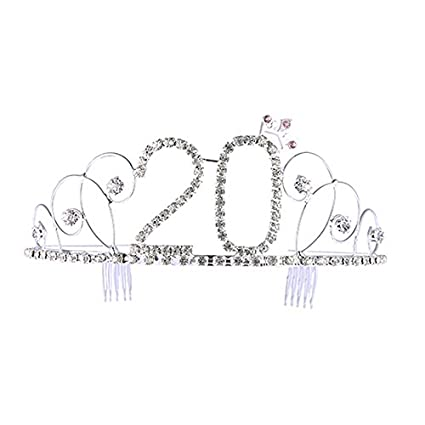 Cumpleaños de cristal Corona Princesa Corona Tiara ...