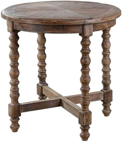 Uttermost 24346 Samuelle Wooden End Table, Brown
