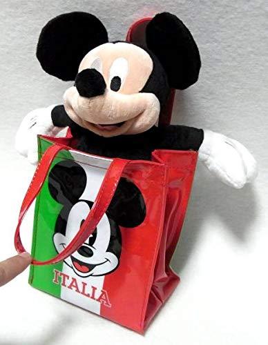 ディズニーストア ミッキーぬいぐるみ バッグ付 ITALIA イタリア限定の商品画像
