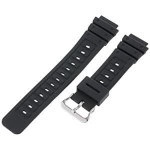 Timex Men's Q7B721 Resin Sport 18mm Black Replacement Watchband