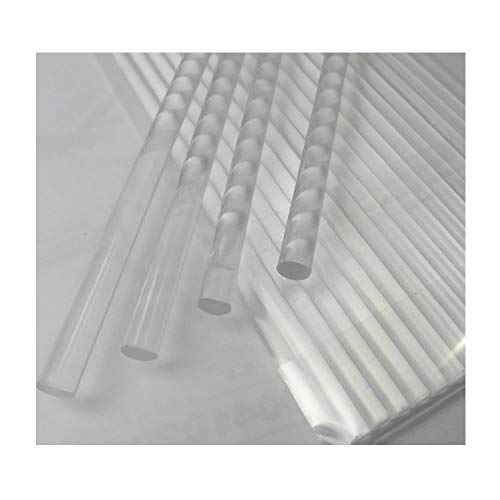 Weststone - 30pcs acrylic Rods acrylic Sticks, Round, Transparent Clear, Standard Tolerance with size of 6