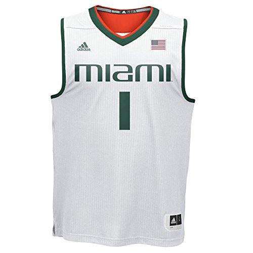 (NCAA Miami Hurricanes Men's Replica Jersey, Medium, White)