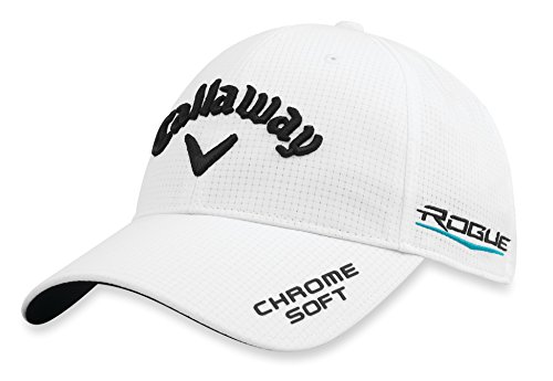 Callaway Golf 2018 Tour Authentic Adjustable Hat, White (Callaway Hat White)
