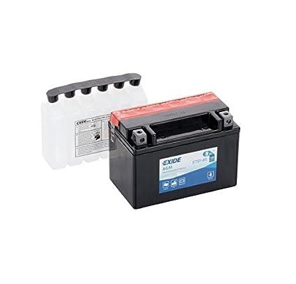 Exide - Batería ytx9-bs: Amazon.es: Coche y moto