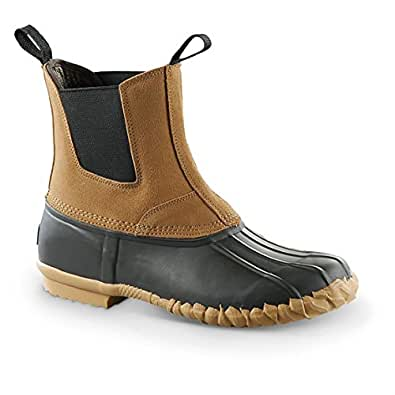 Amazon.com | Guide Gear Pull-On Insulated Duck Boots, Tan